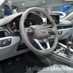 India-bound 2016 Audi A4 driver's area at the IAA 2015