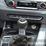 India-bound 2016 Audi A4 gear lever at the IAA 2015