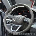 India-bound 2016 Audi A4 steering wheel at the IAA 2015