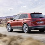 India-bound 2016 VW Tiguan rear three quarter unveiled ahead of debut