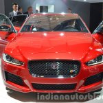 India-bound Jaguar XE front at the IAA 2015