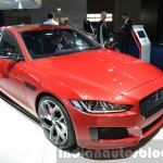 India-bound Jaguar XE front three quarter at the IAA 2015