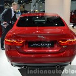 India-bound Jaguar XE rear at the IAA 2015