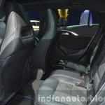 Infiniti Q30 City Black Edition rear seat at IAA 2015