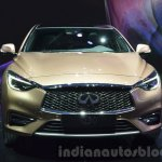 Infiniti Q30 grille headlamp bumper at IAA 2015