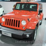 Jeep Wrangler Unlimited Sahara edition front at the 2015 Chengdu Motor Show