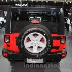 Jeep Wrangler Unlimited Sahara edition rear at the 2015 Chengdu Motor Show