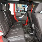 Jeep Wrangler Unlimited Sahara edition rear seats at the 2015 Chengdu Motor Show