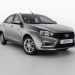 Lada Vesta front three quarters studio image