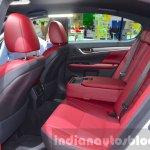 Lexus GS F Sport 200t rear seats legroom at IAA 2015