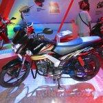 Mahindra Centuro Disc Brake side left Nepal Auto Show 2015