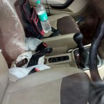 Mahindra TUV300 center console spied
