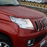 Mahindra TUV300 front end red first drive review