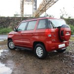 Mahindra TUV300 rear three quarter launched in India