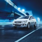 Maruti Ciaz SHVS front three quarter press image