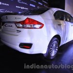 Maruti Ciaz SHVS rear three quarter launched in Delhi