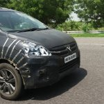 Maruti Ertiga facelift grille India spied