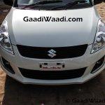 Maruti Swift SP Limited Edition front end begins arriving at dealership