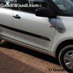 Maruti Swift SP Limited Edition side moulding begins arriving at dealership