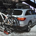 Mercedes GLC accessories with cycle rack and two piece rear spoiler at IAA 2015