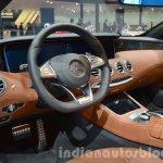 Mercedes S 500 Cabriolet interior at the IAA 2015