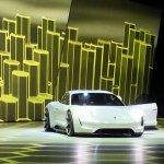 Porsche Mission E (Porsche Pajun) front quarter unveiled