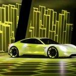 Porsche Mission E (Porsche Pajun) front three quarter unveiled