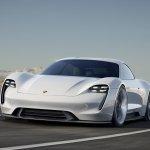 Porsche Mission E front quarter unveiled at the VAG Night