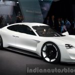 Porsche Mission E front three quarter at the IAA 2015