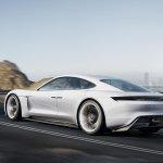 Porsche Mission E rear quarter unveiled at the VAG Night