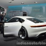Porsche Mission E rear three quarter with doors open at the IAA 2015