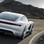 Porsche Mission E rear unveiled at the VAG Night