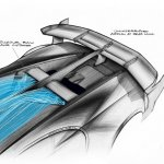 Rear end sketch of the Bugatti Vision GT (official image)