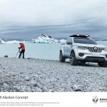 Renault Alaskan pick-up truck front quarter unveiled