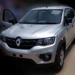 Renault Kwid front dealer spied