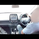 Renault Kwid interior dealer spied