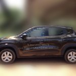 Renault Kwid side dealer spied