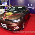 Ssangyong Tivoli front three quarter at the 2015 Nepal Auto Show