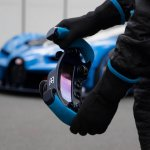 Steering wheel display of the Bugatti Vision GT (official image)
