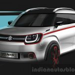 Suzuki Ignis Trail concept sketch press shots