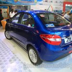 Tata Zest rear three quarter at the 2015 Nepal Auto Show