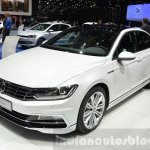 VW Passat front three quarters at the 2016 Geneva Motor Show