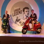 Vespa SXL and Vespa VXL front three quarter launched in India