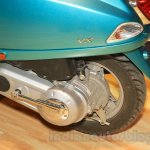 Vespa VX engine turquoise green at Nepal Auto Show 2015