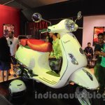 Vespa VX front three quarter right white at Nepal Auto Show 2015