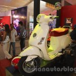Vespa VX front three quarter white at Nepal Auto Show 2015