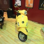 Vespa VX front yellow at Nepal Auto Show 2015