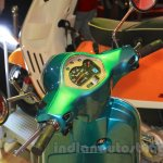 Vespa VX instrument cluster turquoise green at Nepal Auto Show 2015