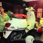 Vespa VX rear three quarter white at Nepal Auto Show 2015