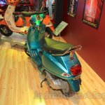 Vespa VX rear top turquoise green at Nepal Auto Show 2015
